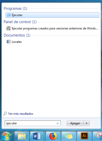 Comando Ejecutar Windows