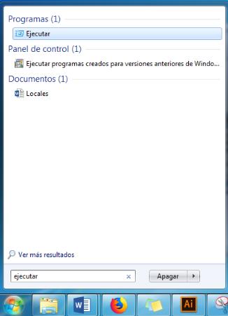 Comando Ejecutar Windows