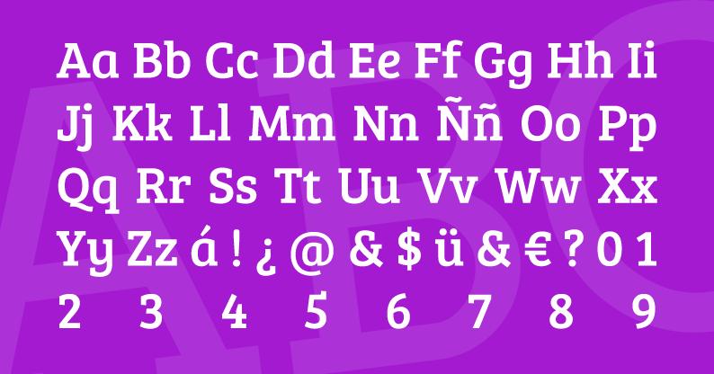 Tipografía Bree Serif