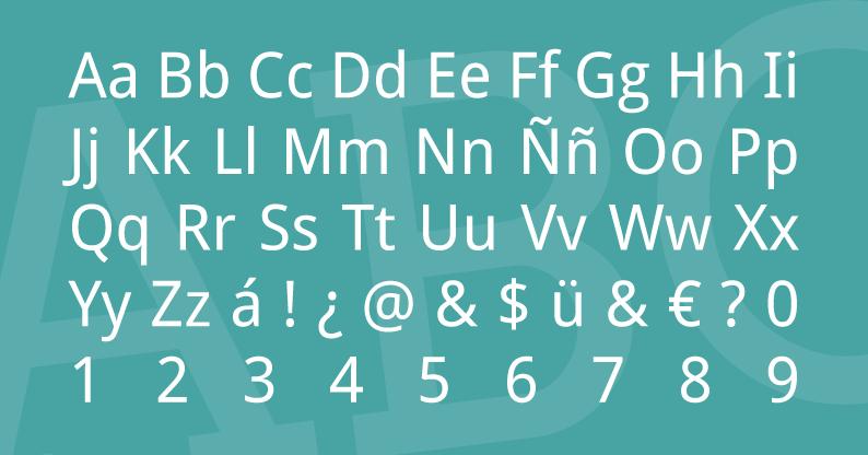 Tipografía Droid Sans