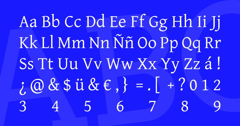 Tipografía Gentium Basic