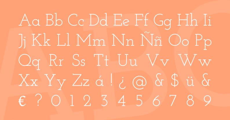 Tipografía Josefin Slab