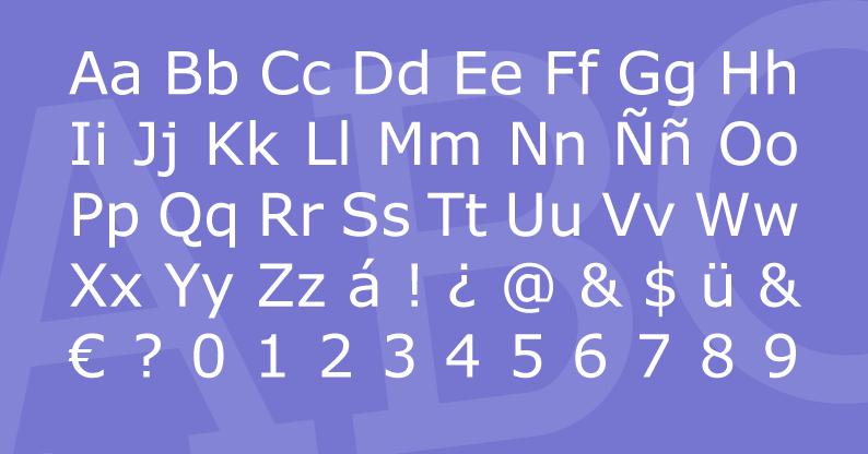 Tipografía MS Sans Serif