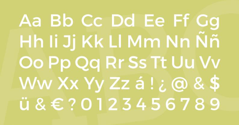 Tipografía Montserrat