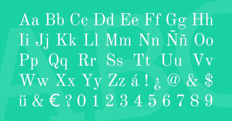 Tipografía Old Standard TT