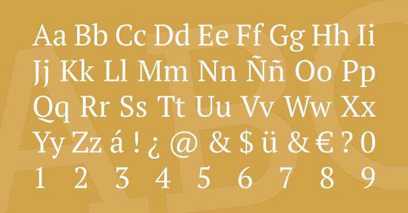 Tipografía PT Serif