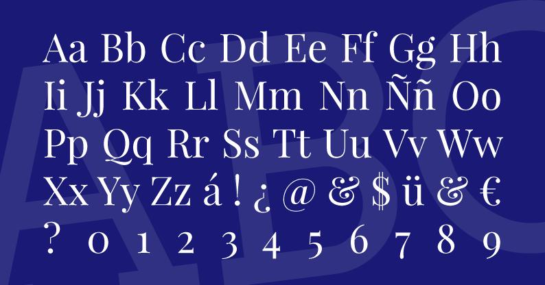 Tipografía Playfair Display