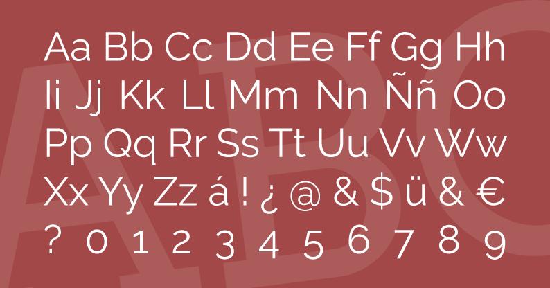 Tipografía Raleway