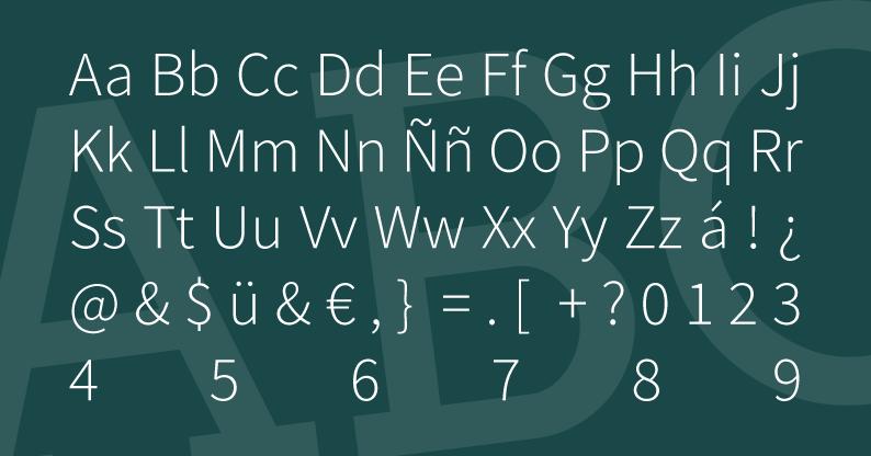 Tipografía Source Sans Pro