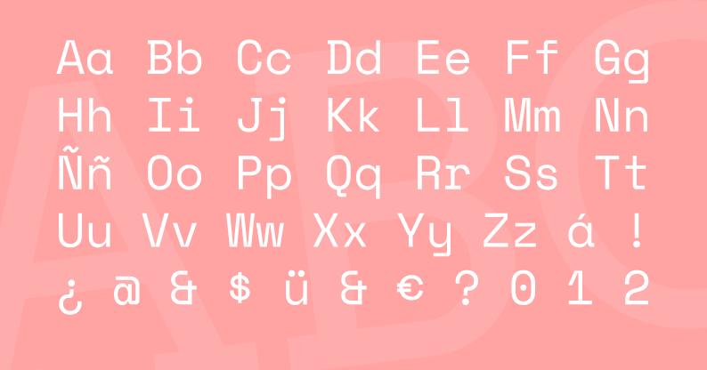 Tipografía Space Mono