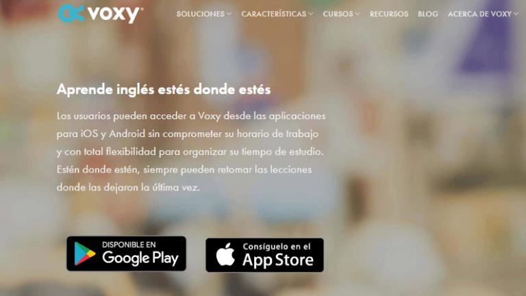 las mejores aplicaciones para aprender inglés voxy