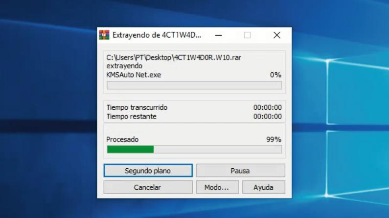 extraer activador windows-10