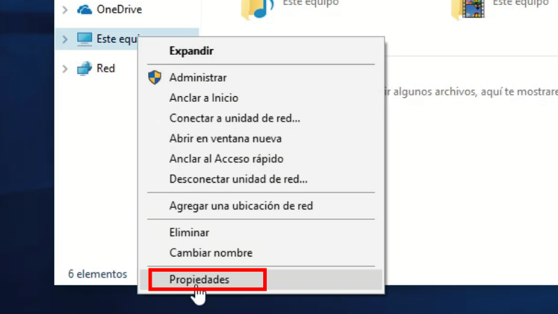 propiedades de equipo windows 10